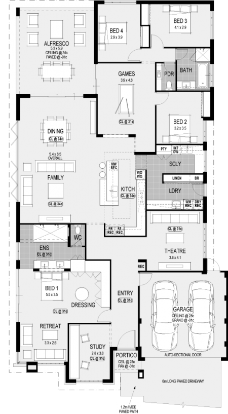 Washington Platinum floorplan