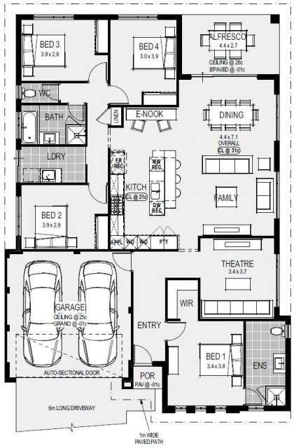 The Santorini Floorplan