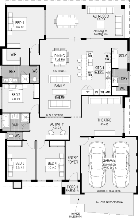 The Riviera floorplan