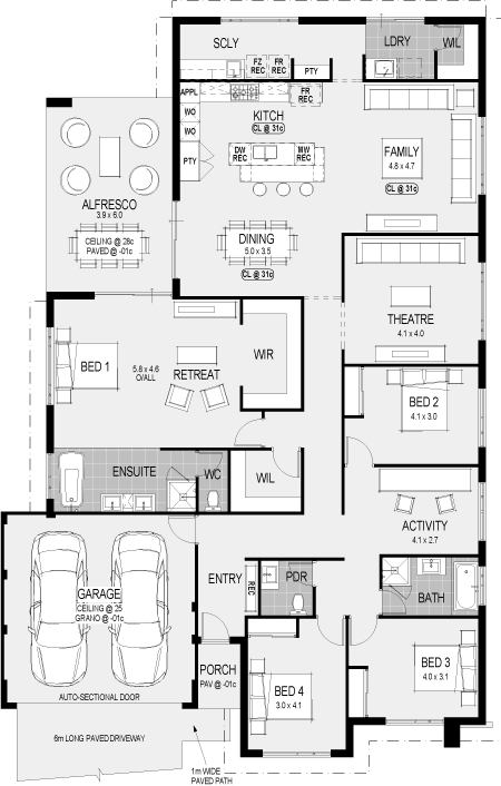 The San Francisco floorplan