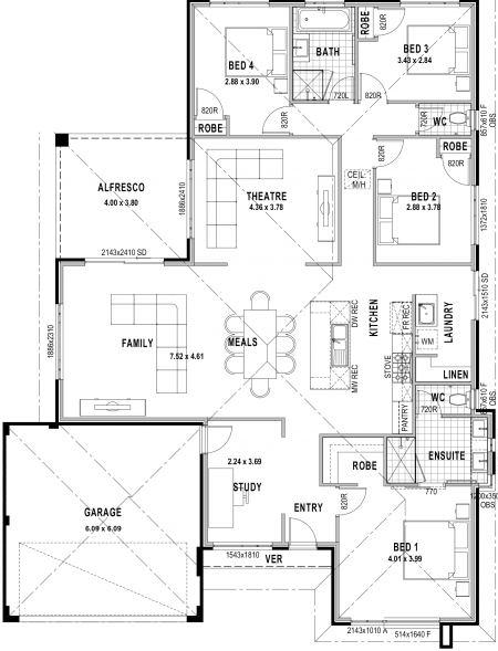 The Wembley Designer Classico floorplan