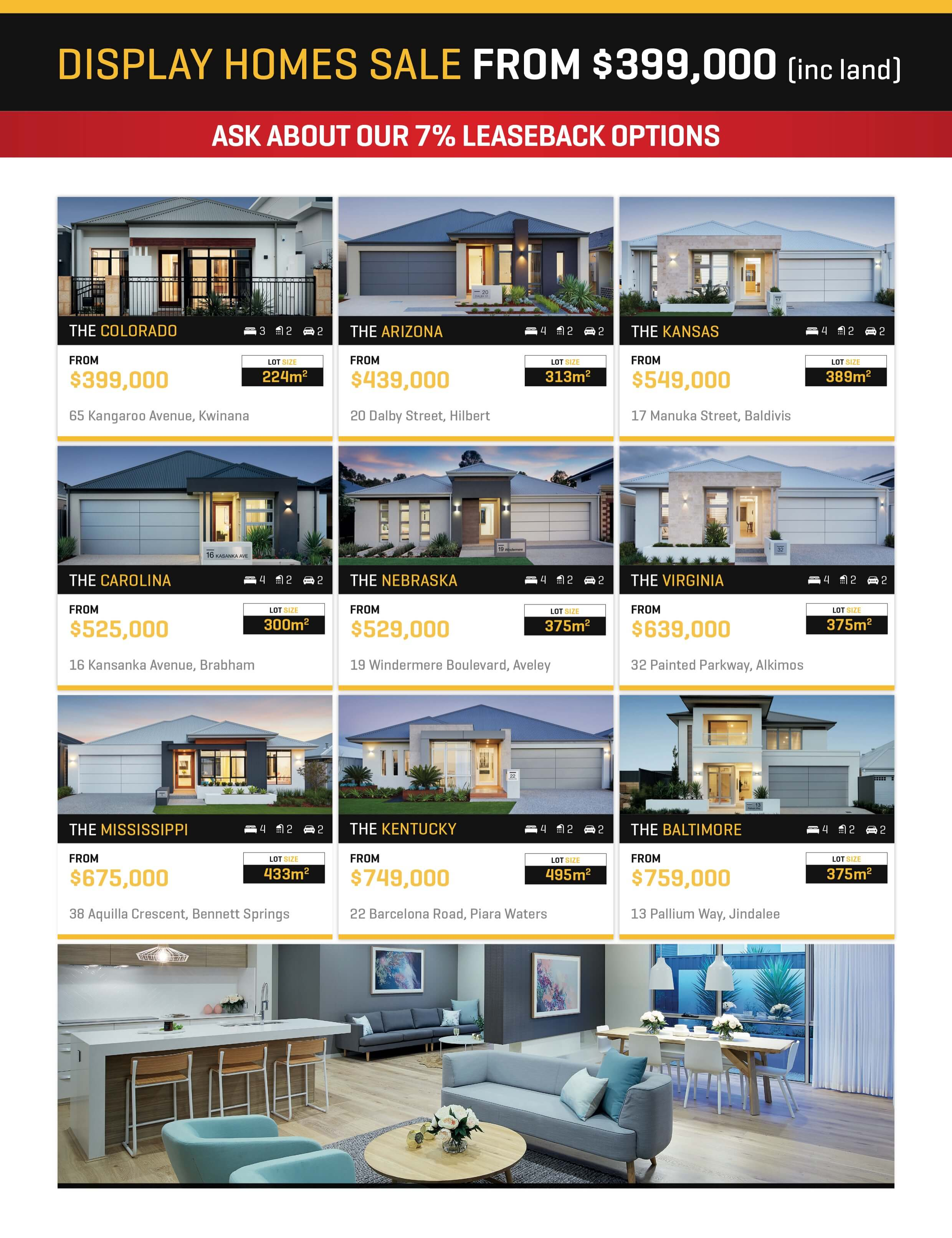 Display Homes For Sale